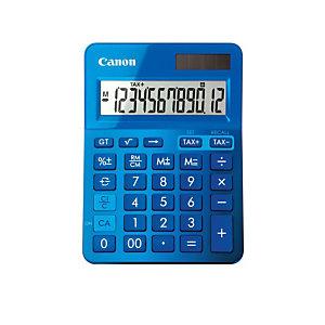 CANON Calculatrice LS123K-MBL, affichage 12 chiffres, bleu