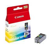 Canon CLI-36, 1511B001, Cartucho de Tinta, ChromaLife100, Negro, Tricolor