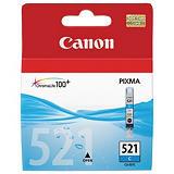 Canon CLI-521 C, 2934B001, Cartucho de Tinta, ChromaLife100+, PIXMA, Cian