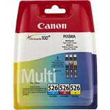 Canon CLI-526 CMY, 4541B009, Cartucho de Tinta, ChromaLife100+, PIXMA, Cian, Magenta, Amarillo