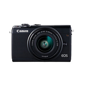 Canon EOS M100 + EF-M 15-45mm IS STM, 24,2 MP, 6000 x 4000 Pixeles, CMOS, Full HD, Pantalla táctil, Negro 2209C012