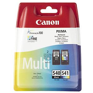 Canon PG-540 / CL-541, 5225B006, Cartucho de Tinta, ChromaLife100, PIXMA, Negro, Tricolor