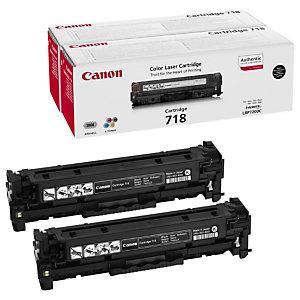 CANON Toner Original 718 N, 2662B005 (Pack de 2), Noir