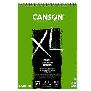 CANSON Album spiralato lato corto XL drawing - A3 - 160 gr - 50 fogli - Canson