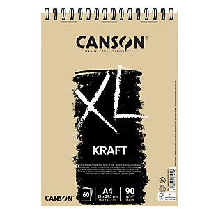 CANSON Album spiralato lato corto XL kraft - A4 - 90 gr - 60 fogli - Canson