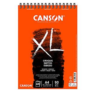 CANSON Album XL Croquis - A4 - 90 gr - 60 fg - bianco - Canson
