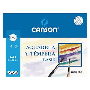 CANSON Basik Láminas de papel A4+ para acuarela y témpera
