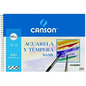 CANSON Bloc de dibujo, A3+, 10 hojas, 370 g/m²