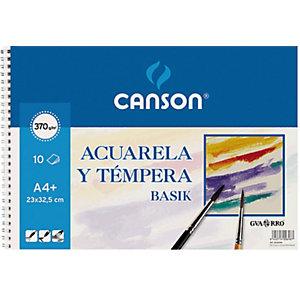 CANSON Bloc de dibujo A4+, 10 hojas, 370 g/m²