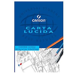 CANSON Blocco carta lucida - 210x297mm - 10 fogli - 80gr - uso manuale - Canson