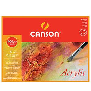 CANSON Blocco collato 4 lati Canson Acrylic - 24x32 cm - 400 gr - 10 fogli - Canson