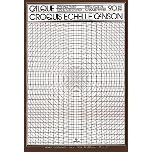 CANSON Feuilles de calque Croquis A4 (29,7 x 21 cm) uni 90/95 g/m²