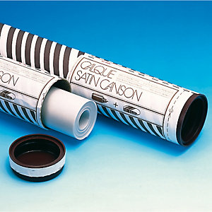 CANSON Rotolo carta lucida satinata - 110cmx20mt - 90/95gr - uso manuale - Canson