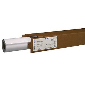CANSON Rouleau de papier Hicolor pour traceurs jet d'encre monochrome 90 g - 91,4 cm x 50 m - Blanc