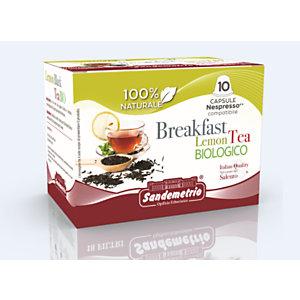 Capsula Tè Breakfast Lemon Tea Bio Sandemetrio, Compatibile Nespresso* (confezione 10 pezzi)