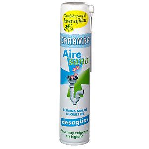 Caramba Aire Sano Desagües y Lavavajillas, Ambientador quitaolores, 300 ml, Aerosol con Cánula