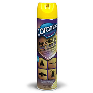 Caramba Insecticida Fulminante Super Concentrado, 600 ml, Insectos Voladores, Tapón Pulverizador, Aroma Limón