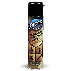 Caramba Insecticida Permanente en Laca, 600 ml, Insectos Rastreadores, Aerosol con Cánula, Aroma Limón