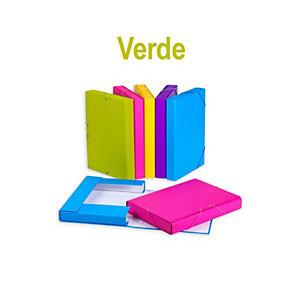 CARCHIVO Fashion Carpeta de proyectos, Folio, cartón forrado, 350 hojas, lomo 40 mm, verde