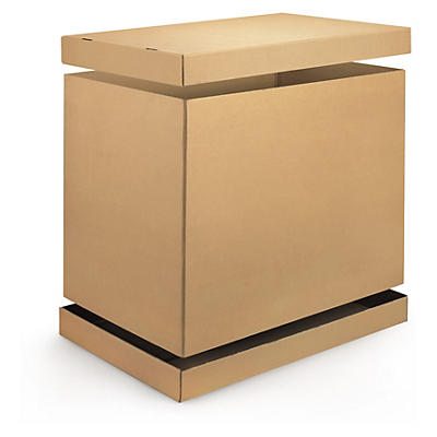Cardboard cap and sleeve loading cases without pallets