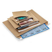 Cardboard envelopes with long edge opening