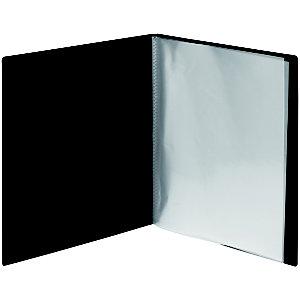 Carpeta de fundas A4, 40 fundas, lomo personalizable, negro