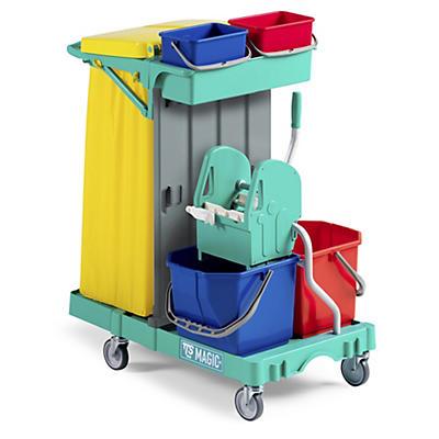 Carrello per pulizie multiuso a 2 reparti