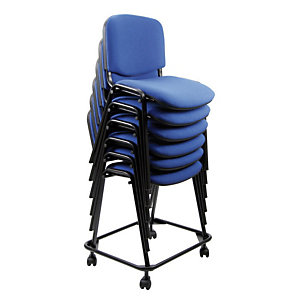 Carrello per sedie attesa impilabili