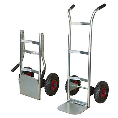 Carrello pieghevole zincato ruote pneumatiche portata 200 kg