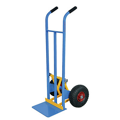 Carrello portacasse con scaricafacile ruote pneumatiche portata 200 kg