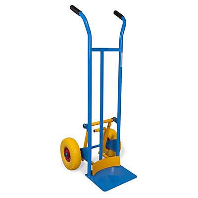 Carrello portacasse e porta fusti con scaricafacile ruote antiforatura portata 200 kg