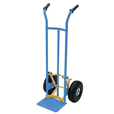 Carrello portacasse e porta fusti con scaricafacile ruote pneumatiche portata 200 kg