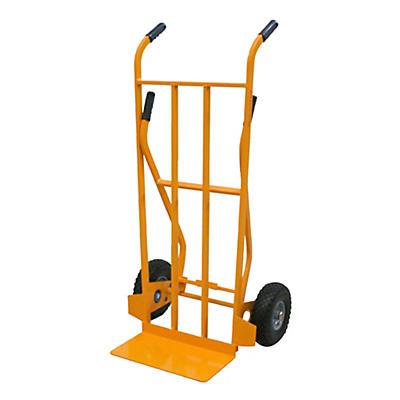 Carrello portapacchi doppia impugnatura ruote antiforatura portata 250 kg