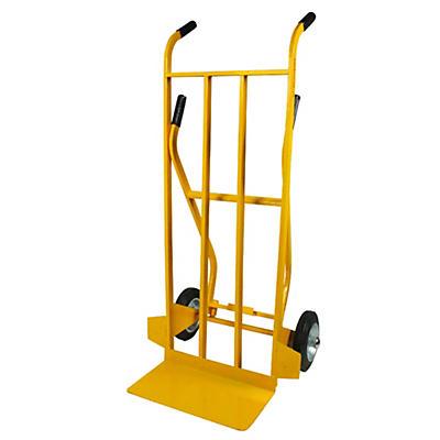 Carrello portapacchi doppia impugnatura ruote gommate portata 250 kg