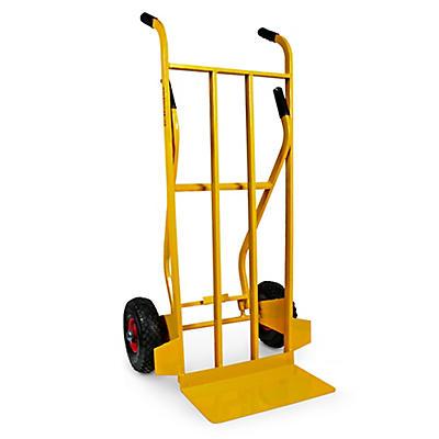 Carrello portapacchi doppia impugnatura ruote pneumatiche portata 250 kg