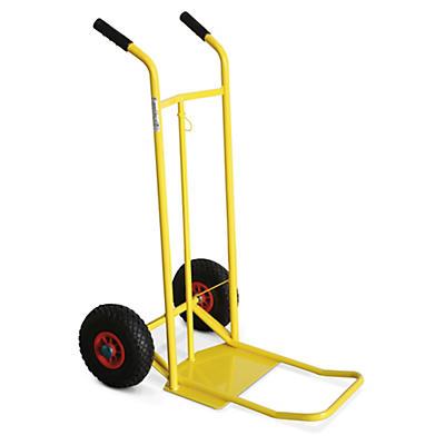 Carrello portasacchi con doppia pedana ruote pneumatiche portata 150 kg