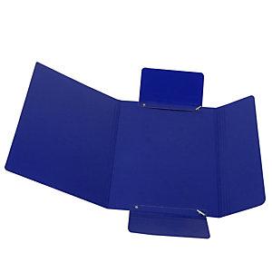 CART. GARDA Cartellina con elastico - presspan - 3 lembi - 700 gr - 25x34 cm - blu - Cartotecnica del Garda