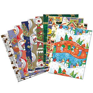 Carta da regalo, Colori assortiti  (confezione 10 pezzi)