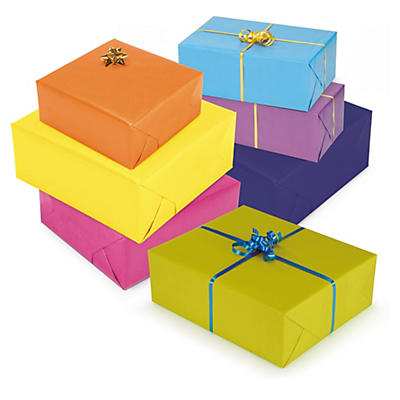 Carta da regalo colori luminosi in rotolo