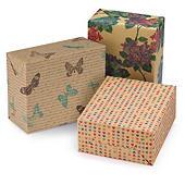 Carta da regalo riciclata fantasia Natural