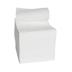 Carta igienica interfogliata, 2 veli, 300 fogli, Bianco