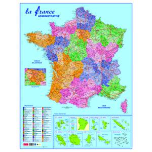 Carte de France administative souple