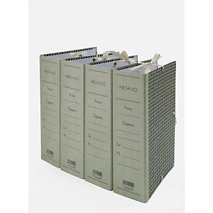 Cartella archivio con lacci, Cartone, Paglia di vienna, 350 mm x 250 mm x 120 mm (confezione 5 pezzi)