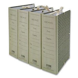 Cartella archivio con lacci, Cartone, Paglia di vienna, 350 mm x 250 mm x 80 mm (confezione 5 pezzi)