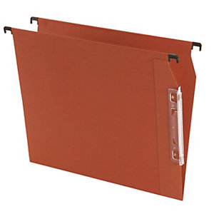 Cartelle sospese per armadi, Interasse 33 cm, Fondo V, 32,5 x 27,5 cm, Arancio (confezione 25 pezzi)