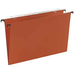 Cartelle sospese per cassetti, Interasse 33 cm, Fondo V, 30,5 x 24,3 cm, Arancio (confezione 25 pezzi)