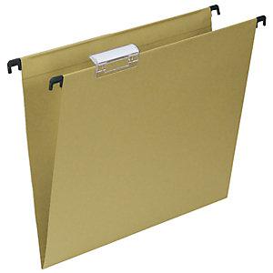 Cartelle sospese per cassetti, Interasse 33 cm, Fondo V, 30,5 x 24,5 cm, Avana (confezione 50 pezzi)
