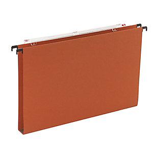 Cartelle sospese per cassetti, Interasse 39 cm, Fondo U, 36,5 x 24,5, Arancio (confezione 25 pezzi)