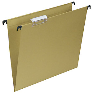 Cartelle sospese per cassetti, Interasse 39 cm, Fondo V, 36,5 x 24,3 cm, Avana (confezione 50 pezzi)