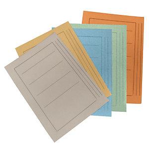 Cartellina a 3 lembi, 25,4 x 33,4 cm, Con stampa, Cartoncino manilla riciclato al 100%, Arancio (confezione 50 pezzi)